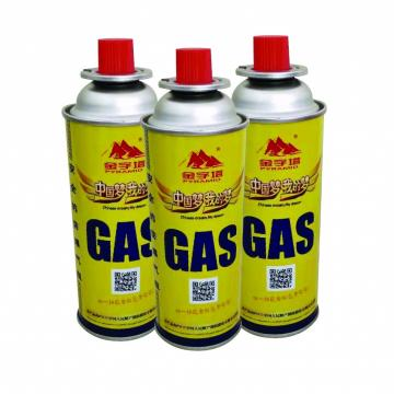 220GR NOZZLE TYPE Metal butane gas cartridge camping gas can gas canister