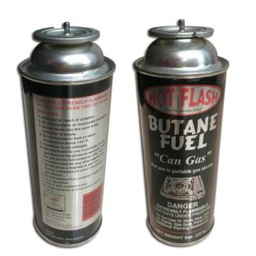 Tin aerosol can and gas cartridge net weight 220g