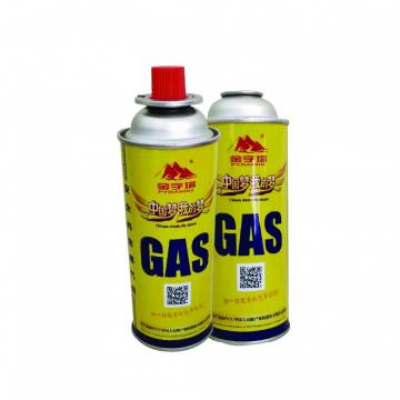 Camping butane gas cartridge for portable gas stove with filled butane gas 400ml 227g gas cylinder 190 gr