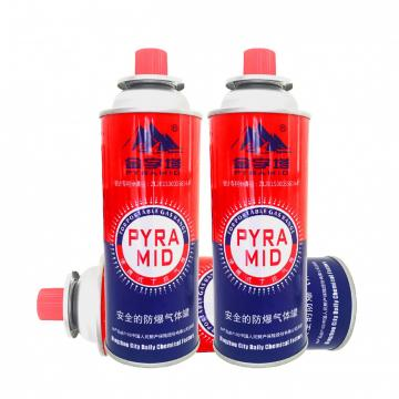 Camping Round Shape Butane Fuel Gas Canisters for portable camping stoves