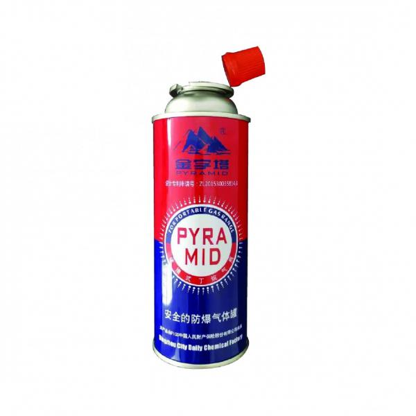 Straight Wall Aerosol Tinplate Can Butane Gas Container gas cylinder 190 gr